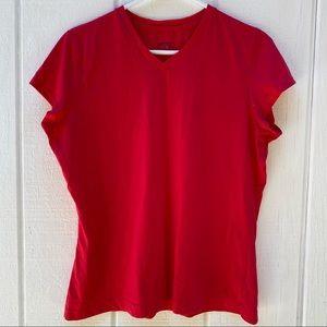 Danskin Now v neck top red XL